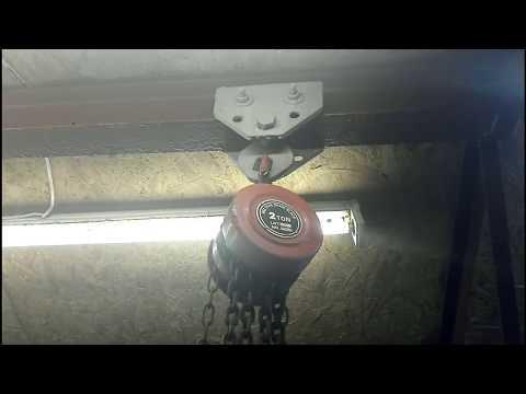 Как сделать кран-балку в гараже своими руками